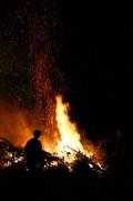 Lagerfeuer auf dem Jungencamp