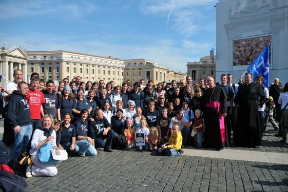 2009 in Rom, Gruppenfoto mit Weihbischof König